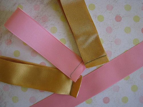 Ribbon size and sewn