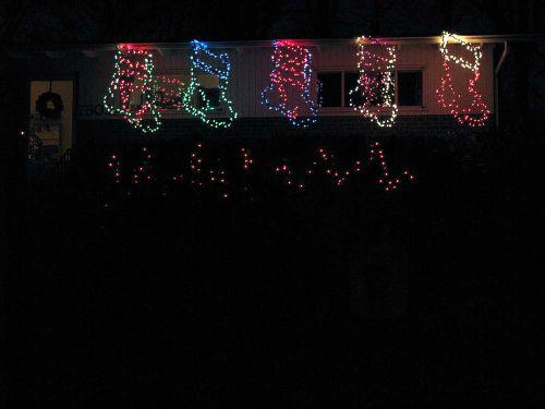 Lights stockings dark