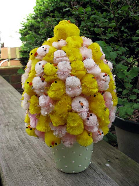 Easter chick pile craft
