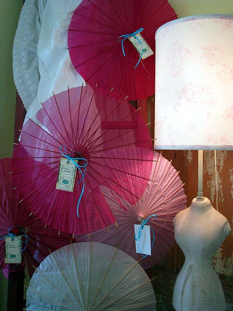 Cottage pink umbrellas