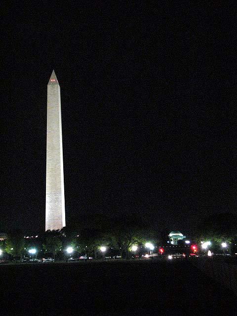 Wash Monument night