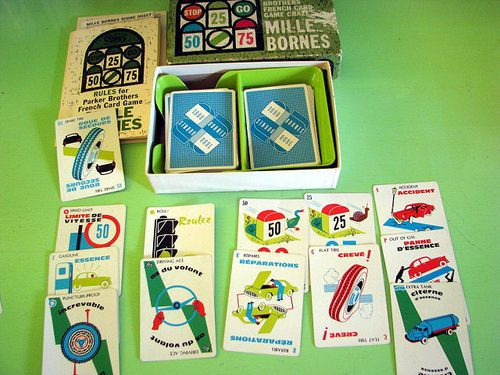 Mile bornes card game for Dujardin 1000 bornes