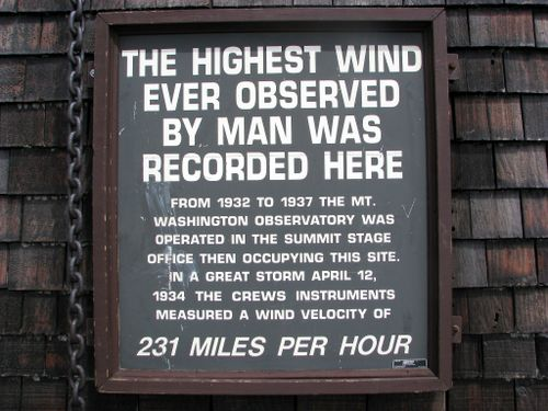 Mt Wash wind sign