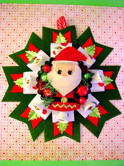 Santa Corsage Hanging 1