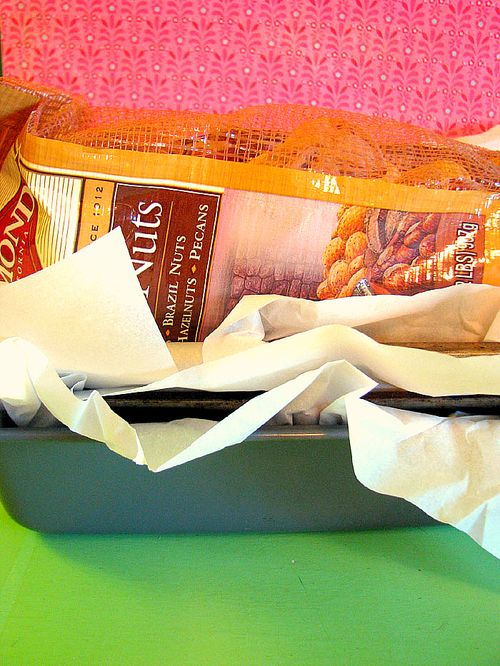 Fruitcake pans and paper
