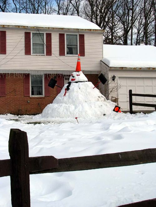 Snowman away
