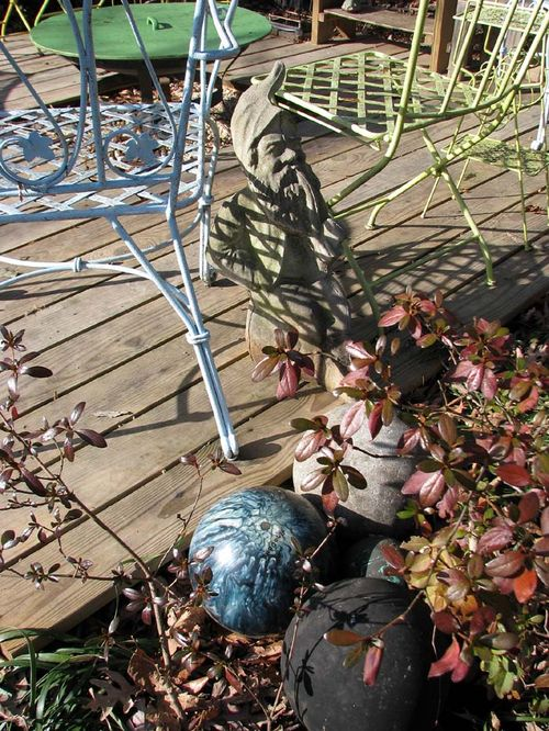 Winter yard deck