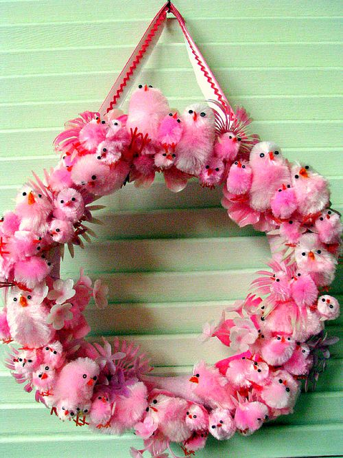 Pink Chick Wreath 1