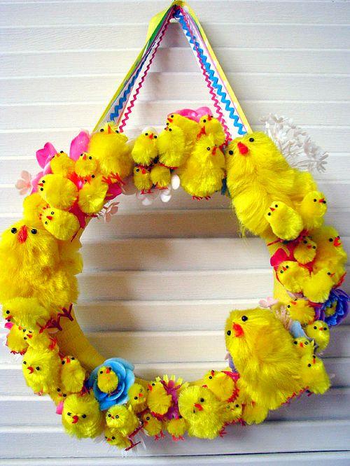 Yellow Chick Wreath 1