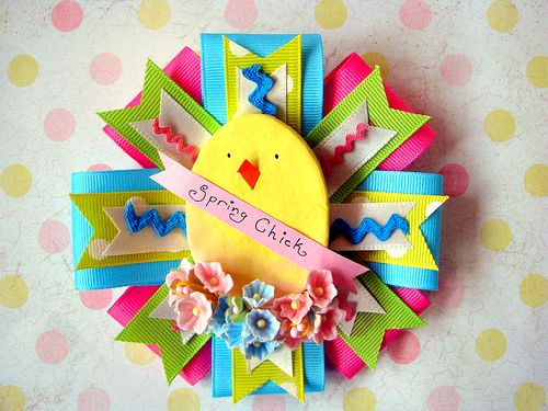 Spring Chick Corsage