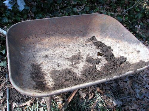Winter yard wheelbarrow