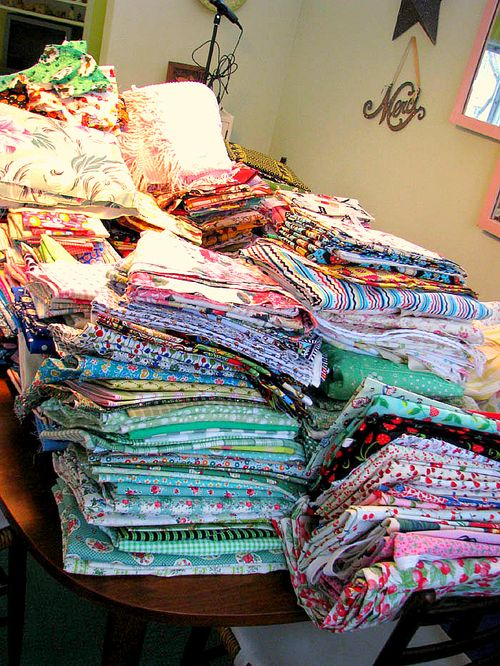 Fabric piles for Ann