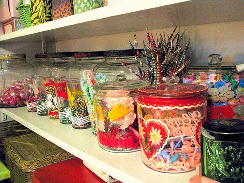 Jar shelf after