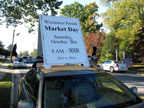 Wicomico Parish day sign