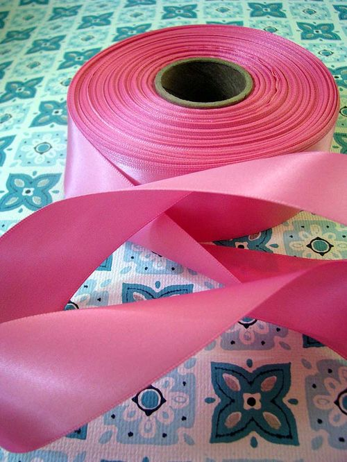 Cotton Candy Pink Satin two side one a half inch