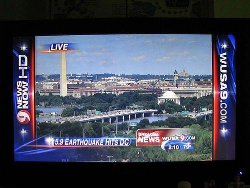 Earthquake TV news