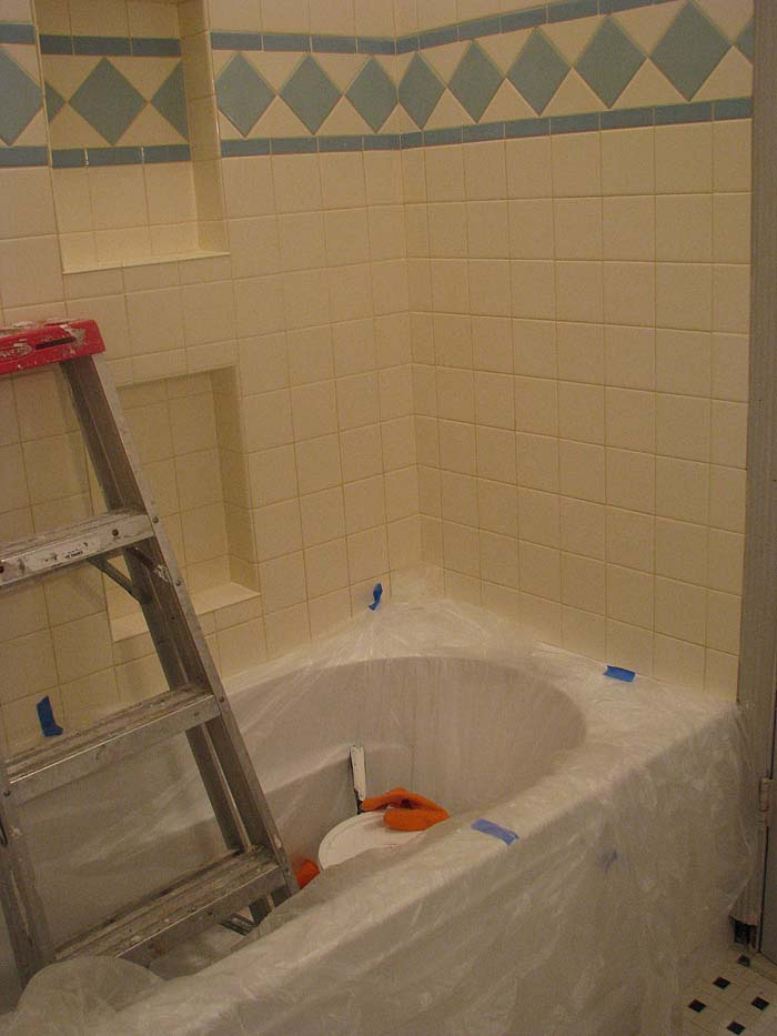 Dime Store Chic Bathroom Remodel Day Grout Love - Is it hard to remodel a bathroom