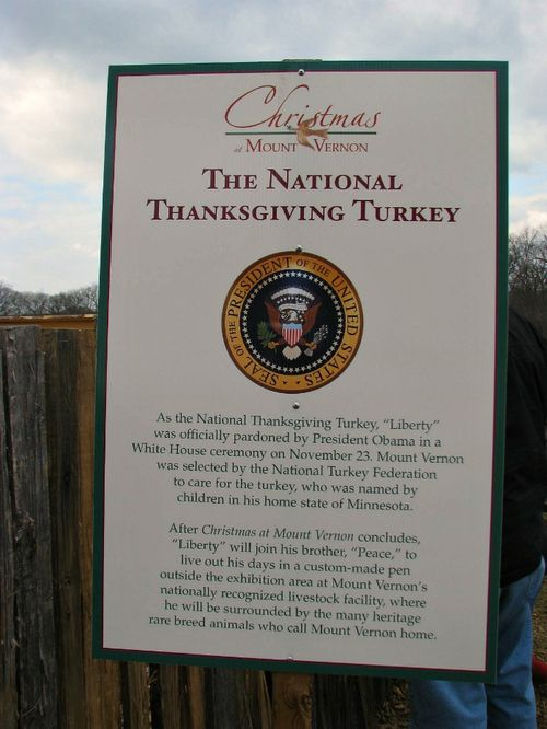 Pardoned Turkey sign