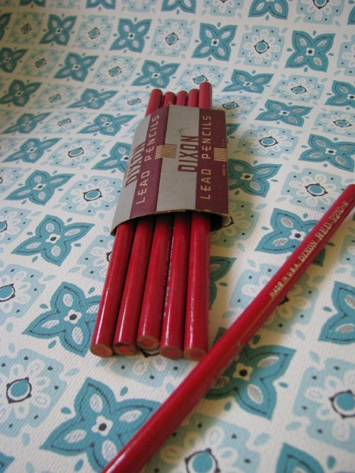 Pencils red