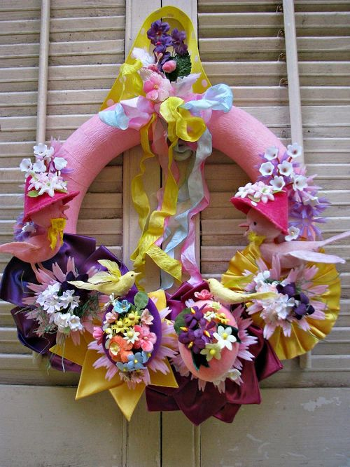 Wreath easter ribbon 1