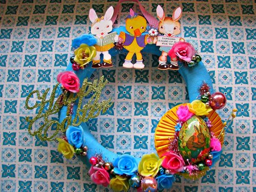 Wreath easter card 1