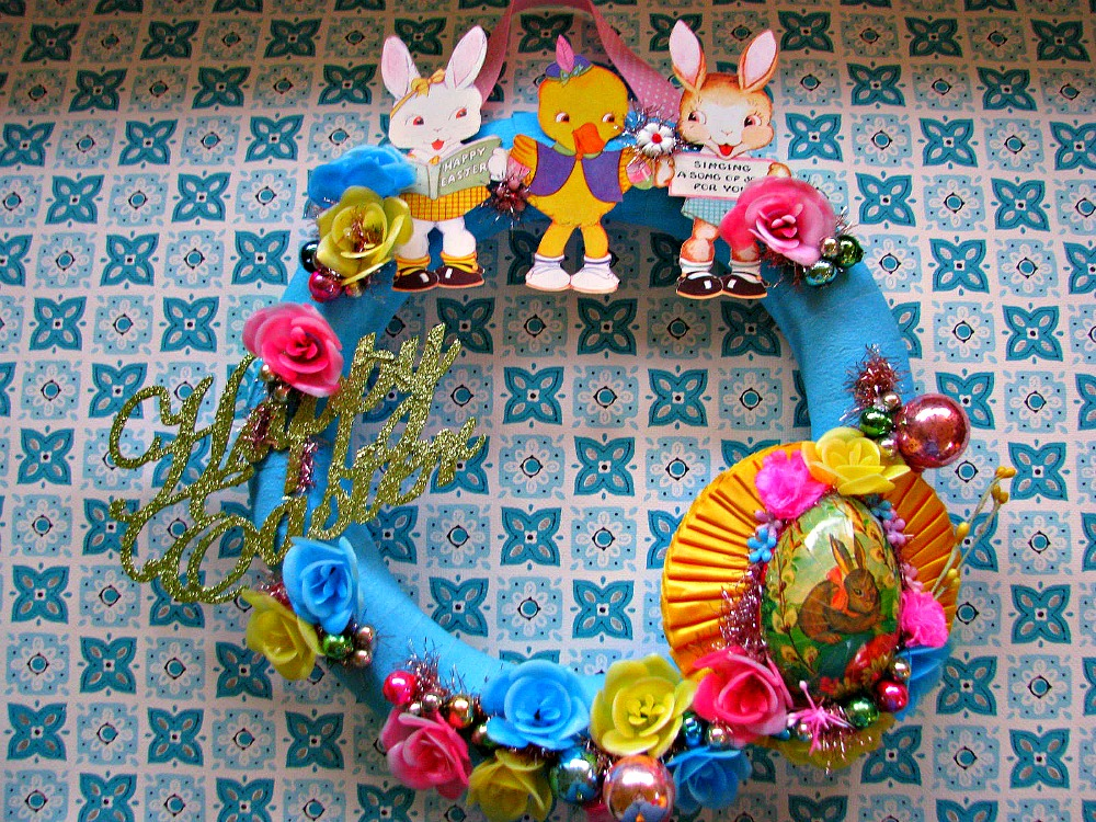 Wreath Easter Card 1 And A Vintage German