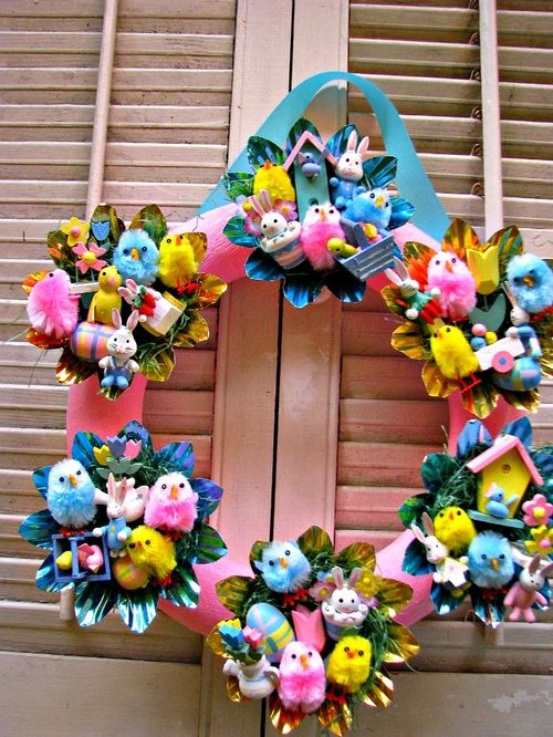 Wreath easter wood 1