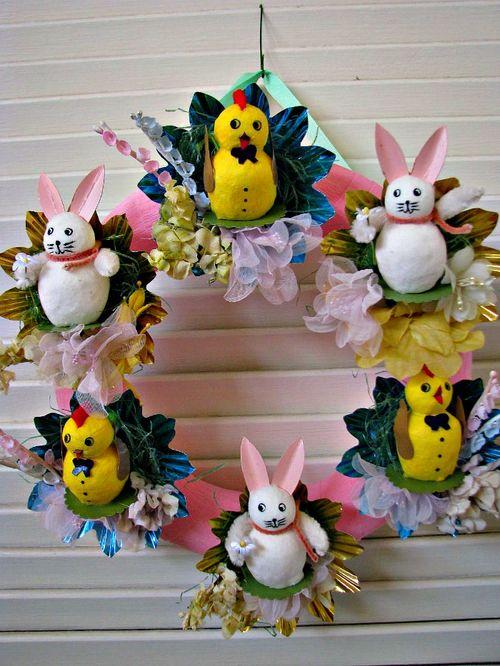 Wreath chicks bunnies 1