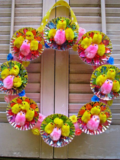Wreath easter chicks 1