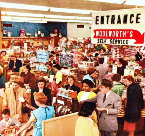 Woolworth checkouts 1955 pleasantfamilyshopping